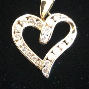 Jewelry - Beautiful 10K Gold and Diamond Heart Pendant